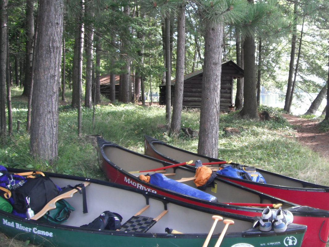 Adirondack lean-to Camping and Canoeing